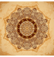 ornate mandala zodiac circle with horoscope signs vector image