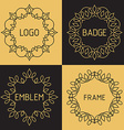 outline frames and badges vector image
