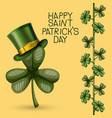 poster happy saint patricks day with clover of vector image vector image