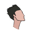 Profile man young hair style character