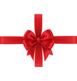 realistic red gift bow isolated on white vector image