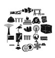 redeployment icons set simple style vector image vector image