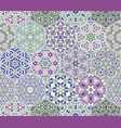 set from hexagonal lilac patterned tiles vector image vector image