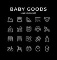 set line icons bagoods vector image vector image