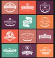 set of typography logo design vector image