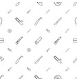 sharp icons pattern seamless white background vector image vector image