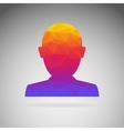 Silhouette of a person conceptual icon vector image