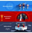 Sports And Nomination Winners Banners Set vector image vector image