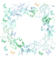 Spring background Colorful butterflies set wreath vector image vector image