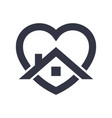 stay home heart sticker icon for quarantine vector image vector image