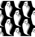 terrifying white ghosts seamless pattern vector image vector image