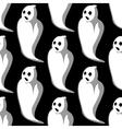 Terrifying white ghosts seamless pattern