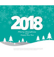 text 2018 christmas paper style on merry vector image vector image