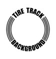 tire track text circle vector image vector image