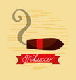 tobacco smoking jazz club poster vector image