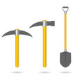 tool for mining set vector image vector image