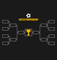 tournament bracket soccer championship vector image vector image