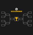 tournament bracket soccer championship vector image
