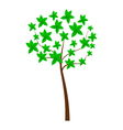 tree on white background vector image vector image
