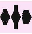 watch silhouette vector image