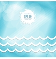 wave design on a blue background vector image vector image