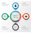 web icons set collection of team data vector image vector image