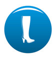 woman boots icon blue vector image vector image