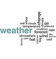 word cloud weather vector image