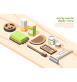 zero waste isometric composition vector image vector image