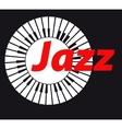 Jazz Keyboard on dark background A vector image
