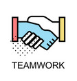 teamwork icon for business on white background vector image
