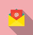 Flat Design E-mail Icon vector image