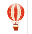 free flying balloon isolated icon vector image
