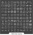 100 line icon set vector image vector image
