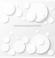 abstract gray background with circle paper style vector image vector image