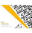 abstract of modern yellow black with black and vector image vector image
