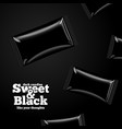 advertisement template black candies pack vector image vector image