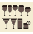 alcohol wine beer cocktail vector image vector image