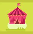amusement park circus tent flat design vector image