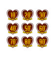 anniversary badges collection vector image vector image