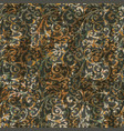 arabesque damask baroque vintage wallpaper vector image