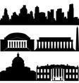 Architecture of Washington vector image
