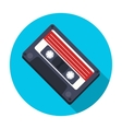 Audio cassette icon in flat style isolated on vector image vector image