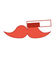 barbershop comb with mustache vector image vector image