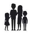 big family consist of parents son and daughter vector image vector image