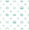 biscuit icons pattern seamless white background vector image vector image