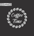 black and white style icon coffee time logo vector image vector image
