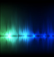 blue-green wave abstract equalizer background vector image vector image