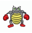 Boxing insect kids t-shirt design vector image