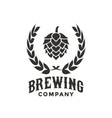 brewing company logo design inspiration vector image